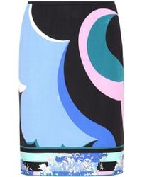Emilio Pucci - Printed Pencil Skirt - Lyst
