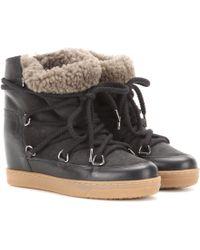 Isabel Marant - Ankle Boots Nowles aus Leder - Lyst