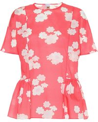 Marni - Floral Cotton Top - Lyst