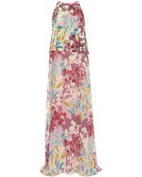 Giamba - Silk Crêpe Dress - Lyst