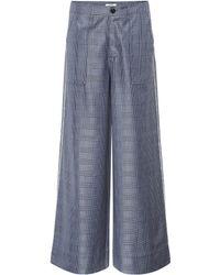 Ganni - Merkel Silk And Wool-blend Pants - Lyst