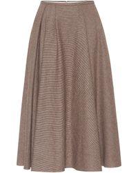 Rochas - Checked Wool-blend Skirt - Lyst