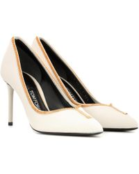 Tom Ford - Leather Zip-up Pumps - Lyst
