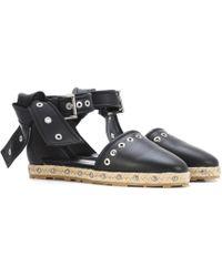 Alexander McQueen - Embellshed Leather Espadrilles - Lyst