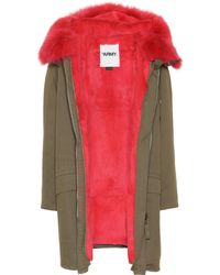 Army by Yves Salomon - Fur-trimmed Cotton Coat - Lyst