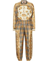 Burberry - Vintage Check Silk Jumpsuit - Lyst
