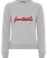 ALEXACHUNG - Cotton Sweatshirt - Lyst