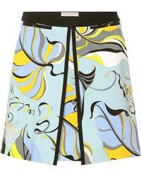 Emilio Pucci - Printed Stretch Knit Miniskirt - Lyst