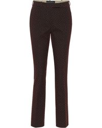 Etro - Jacquard Cotton-blend Pants - Lyst