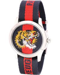 Gucci - Le Marché Des Merveilles Striped Fabric Watch - Lyst