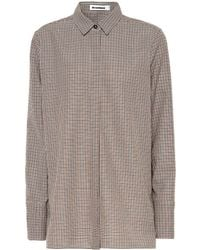 Jil Sander - Checked Virgin Wool Shirt - Lyst