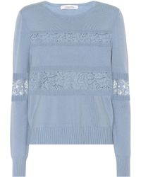 Dorothee Schumacher - Lace Embrace Wool-blend Sweater - Lyst