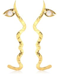 Anissa Kermiche - X Rejina Pyo Grande Tete A Tete 18kt Gold-plated Pearl Earrings - Lyst
