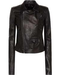 Rick Owens - Leather Jacket - Lyst