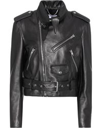 cc864514ab512 Lyst - Balenciaga Classic Leather Zip Biker Jacket in Black