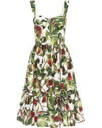 Dolce & Gabbana - Midikleid aus Baumwolle - Lyst