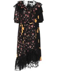 Simone Rocha - Floral-printed Fil Coupé Dress - Lyst