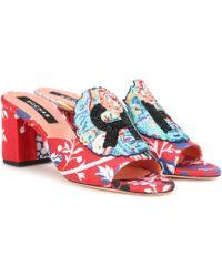 1318ace9de0ef Charlotte Olympia Elsa Beaded Lobster Sandals in Orange - Lyst