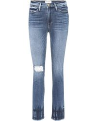 FRAME - Le High Street Distressed Jeans - Lyst