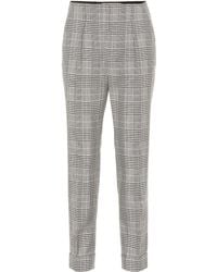 Roland Mouret - Horley Checked Wool-blend Trousers - Lyst