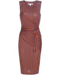 Diane von Furstenberg - Ashlie Printed Silk Wrap Dress - Lyst