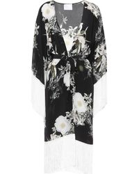 Athena Procopiou - In The Still Of The Night Silk Cardigan - Lyst