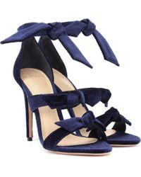 Alexandre Birman - Lolita Velvet Sandals - Lyst