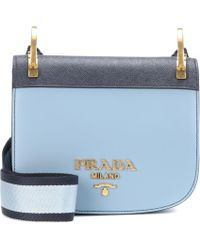 Prada - Pionnière Leather Shoulder Bag - Lyst
