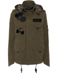 COACH - Embellished Cotton Parka - Lyst