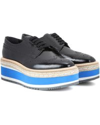 Prada - Wingtip Platform Leather Brogues - Lyst