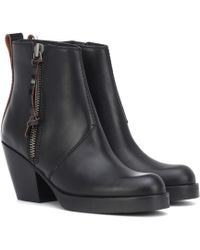Acne Studios - Leather Ankle Boots - Lyst