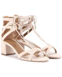 Aquazzura | Beverly Hills 50 Suede Sandals | Lyst