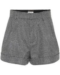 Saint Laurent - Shorts in lana principe di Galles - Lyst