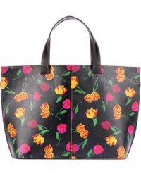 Ganni - Shopper de piel Gallery - Lyst