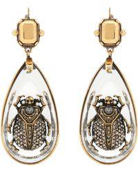 Alexander McQueen - Beetle Pendant Earrings - Lyst