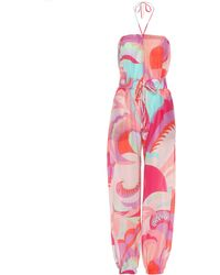 Emilio Pucci - Printed Cotton And Silk Jumpsuit - Lyst