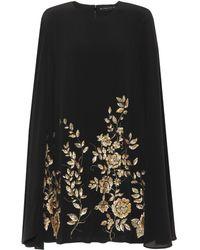 Etro - Vestido corto de seda con adornos - Lyst