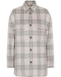Vince - Plaid Wool-blend Shirt Jacket - Lyst