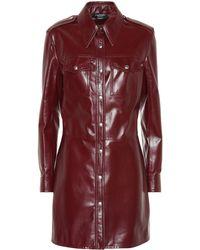 CALVIN KLEIN 205W39NYC - Leather Shirt Dress - Lyst