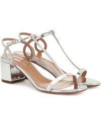 Aquazzura - Almost Bare 50 Leather Sandals - Lyst