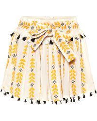Dodo Bar Or - Embroidered Cotton Skirt - Lyst