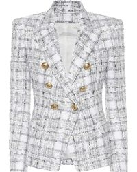 Balmain - Exclusive To Mytheresa – Double-breasted Tweed Blazer - Lyst