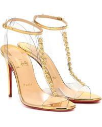 Christian Louboutin - Jamais Assez 100 Pvc Sandals - Lyst
