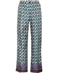 F.R.S For Restless Sleepers - Etere Printed Silk Trousers - Lyst