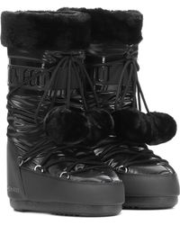 Moon Boot - Exclusive To Mytheresa – Classic Pom Pom Ankle Boots - Lyst