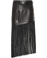 Helmut Lang - Fringed Miniskirt - Lyst