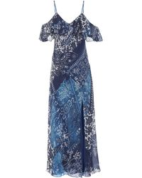 Polo Ralph Lauren - Printed maxi dress - Lyst