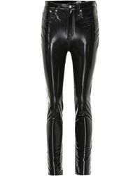 Rag & Bone - High-waisted Vinyl Pants - Lyst
