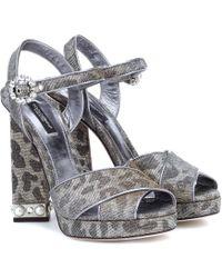 Dolce & Gabbana - Sandalias de plataforma de leopardo - Lyst
