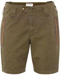 Saint Laurent - Shorts en mezcla de algodón - Lyst